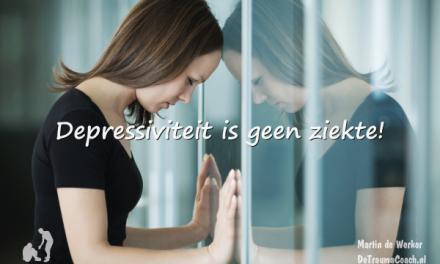 Depressiviteit is geen ziekte maar een gevolg van emotionele onderdrukking.